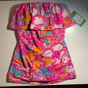 BRAND NEW LILLY PULITZER STRAPLESS TANK